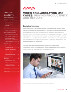 Video Collaboration Use Cases: Driving Productivity and Results