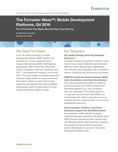 The Forrester Wave: Mobile Development Platforms, Q4 2016