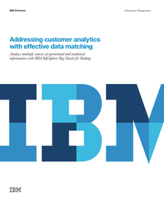 Addressing customer analytics with effective data matching