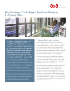 Life after Avaya: The Six Biggest Benefits of Moving to 8×8 Virtual Office