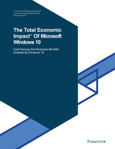 The Total Economic Impact Of Microsoft Windows 10