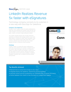 DocuSign and Sales Case Study (LinkedIn)