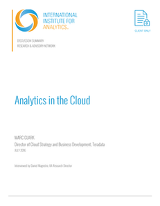 Expert Discussion: Analytics In The Cloud