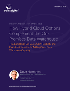 How Hybrid Cloud Options Complement the On-Premises Data Warehouse