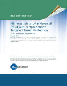 Mimecast Aims To Tackle Email Fraud With Comprehensive Targeted Threat Protection.