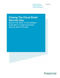 Forrester Study: Closing the Cloud Email Security Gap