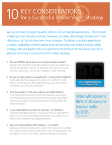 10 Key Considerations for a Successful Online Video Strategy