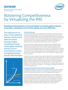 Bolstering Competitiveness by Virtualizing the IMS
