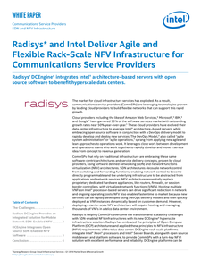 Radisys and Intel Deliver Agile Comms Svcs