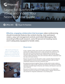Skype for Business + Voice and Video: Your Need-to-Know Guide