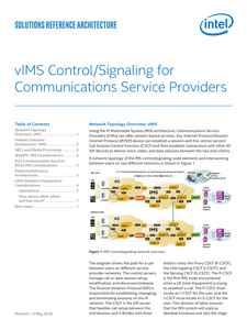 vIMS Control/Signaling for Communications Service Providers