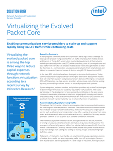 Virtualizing the Evolved Packet Core