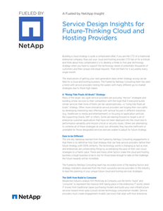 Service Design Insights for Future-Thinking Cloud and Hosting Providers