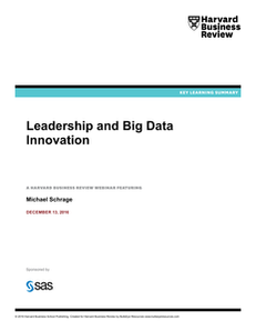 Harvard Business Review: Leadership and Big Data Innovation (Key Learning Summary)