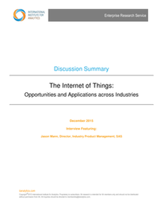IIA: The Internet of Things: Opportunities and Applications Across Industries
