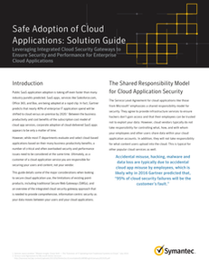 Safe Adoption of Cloud Applications: Solution Guide