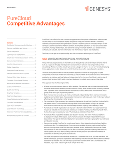 White Paper: PureCloud Competitive Advantages