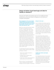Design and deliver cloud based apps and data