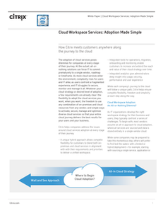 Cloud Workspace Services: Adoption Made Simple