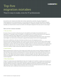 Top Five Migration Mistakes