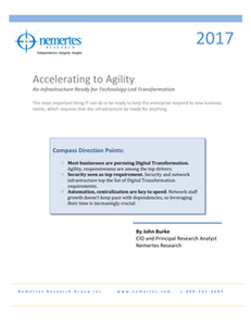 Accelerating to Agility. An infrastructure ready for technology lead transformation.