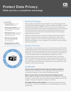 Protect Data Privacy: Make Security A Competitive Advantage