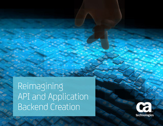 Reimagining API and Application Backend Creation