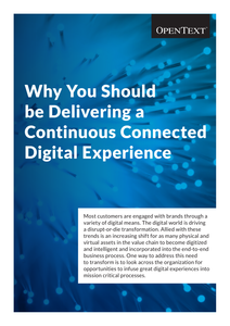 Why You Should be Delivering a Continuous Connected Digital Experience