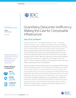 IDC's Quantifying data center inefficiency: Making the case for composable infrastructure