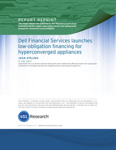 Dell Financial Services Launches Low-Obligation Financing for Hyperconverged Applicances