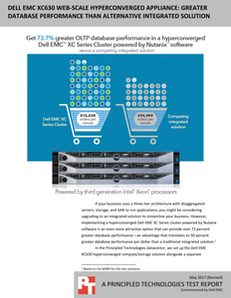 Dell EMC XC630 – Greater Database Performance than Alternative Integrated Solution