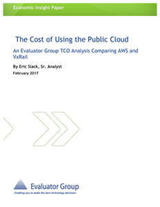 The Cost of Using the Public Cloud: TCO AWS vs VxRail