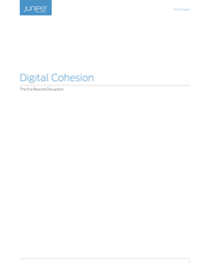Digital Cohesion – the era beyond disruption