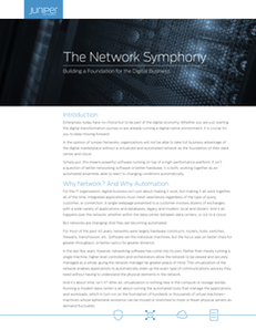 The Network Symphony – Building a foundation for the digital business