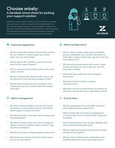 A Zendesk cheat sheet for picking your support solution