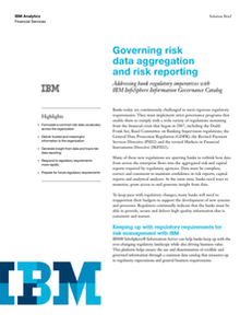 Governing risk data aggregation and risk reporting