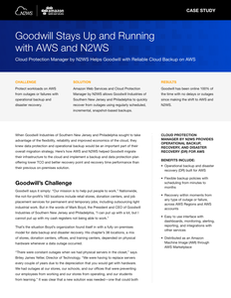 Goodwill Stays Up and Running with AWS and N2WS