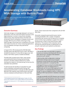 Accelerating Database Workloads with HPE MSA Storage with Built-In Flash
