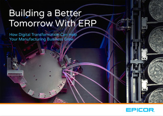 Building a Better Tomorrow With ERP