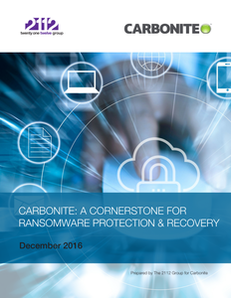 Carbonite: A Cornerstone For Ransomware Protection & Recovery
