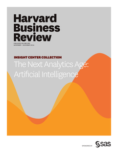 Leading in the Next Analytics Age: HBR Insights The Next Analytics Age: Artificial Intelligence