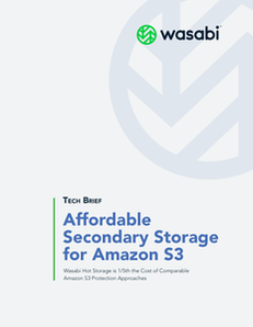 Wasabi Helps You Protect Your Amazon S3 Data with Secondary Storage for 1/5th the Price