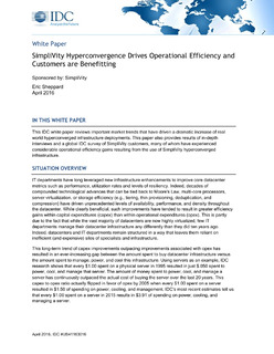 SimpliVity Hyperconvergence Drives Operational Efficiency and Customers are Benefitting