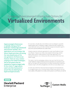 Comparing Hyperconverged Infrastructure Options for Virtualized Environments