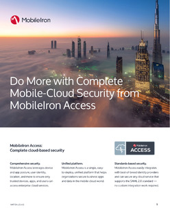 Do More with Complete Mobile-Cloud Security from MobileIron Access