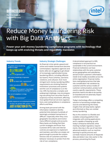 Reduce Money Laundering Risk with Big Data Analytics