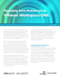 Migrating from MobileIron to VMware Workspace ONE