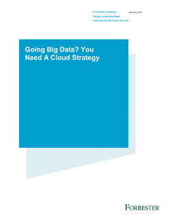 Going Big Data? You Need A Cloud Strategy