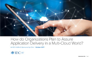 How do Organizations Plan to Assure Application Delivery in a Multi-Cloud World?