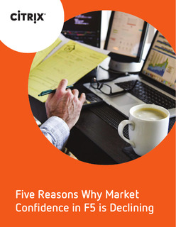 Five Reasons Why Market Confidence in F5 is Declining